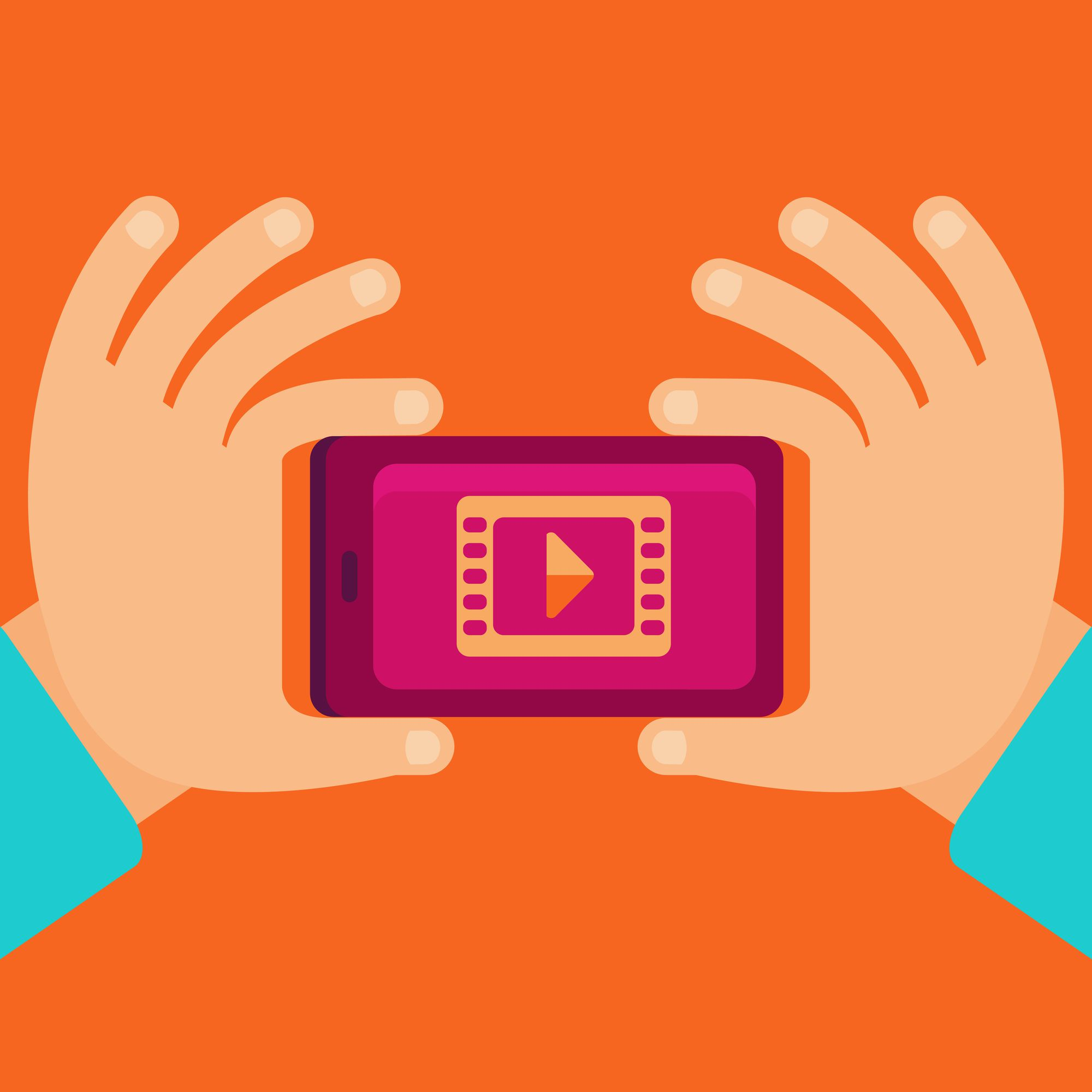vector-graphic-of-hands-holding-a-phone-playing-a-video