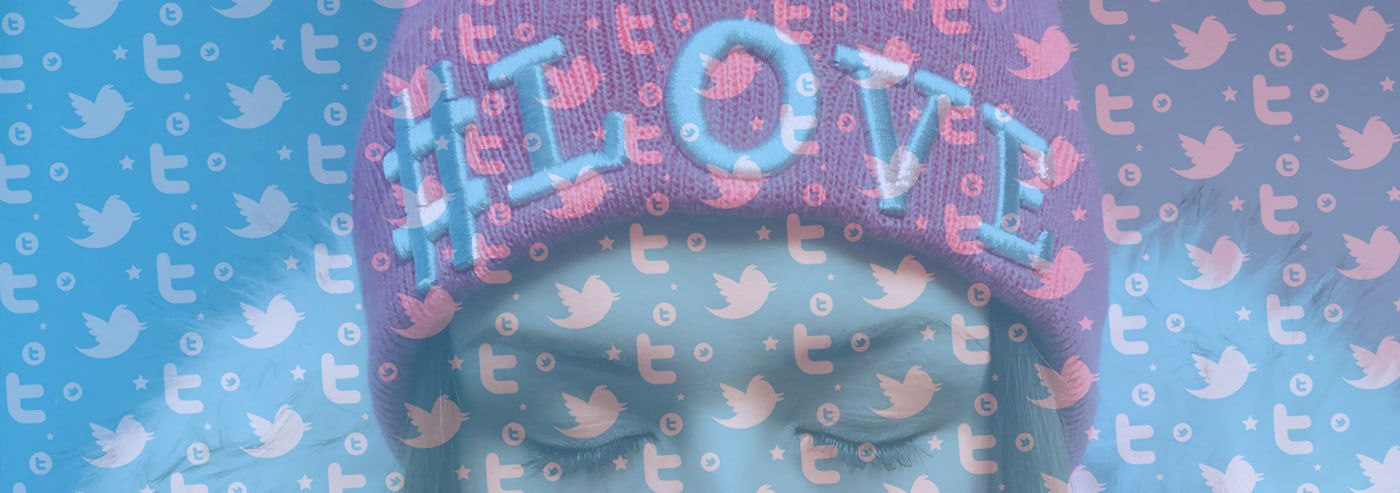 hat with hashtag love